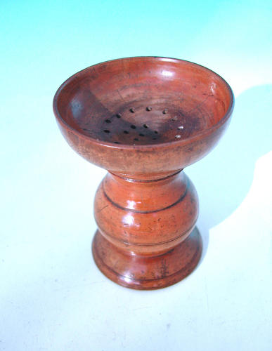 Antique 19thc Turned Sycamore Pounce Pot.  English. C1840-60