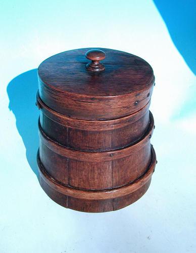 Antique 19thc Oak Staved Flour / Dry Storage Barrel. English. C1840-60