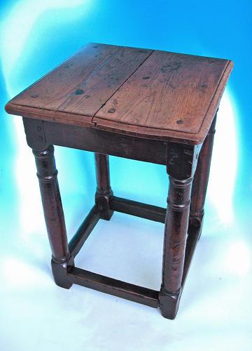 Antique 17thc James 1 / Charles 1 Joyned Oak Table. English. C1620-40.