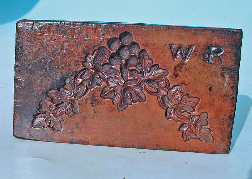 Antique Treen 19thc Boxwood Plaster Mould Initialed WR. English. C1860