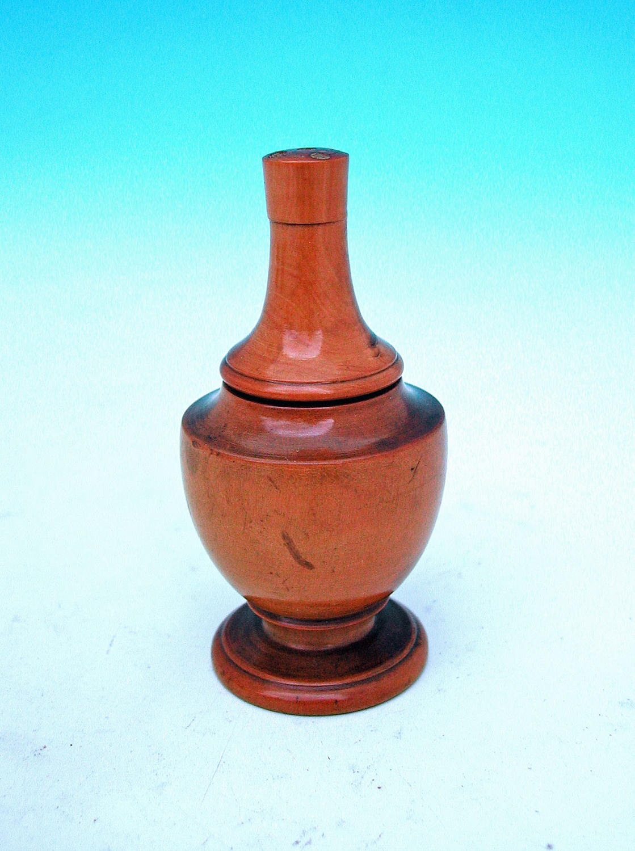 Antique 19thc Small Boxwood Treen Glove Powderer.  English. C1860-80.