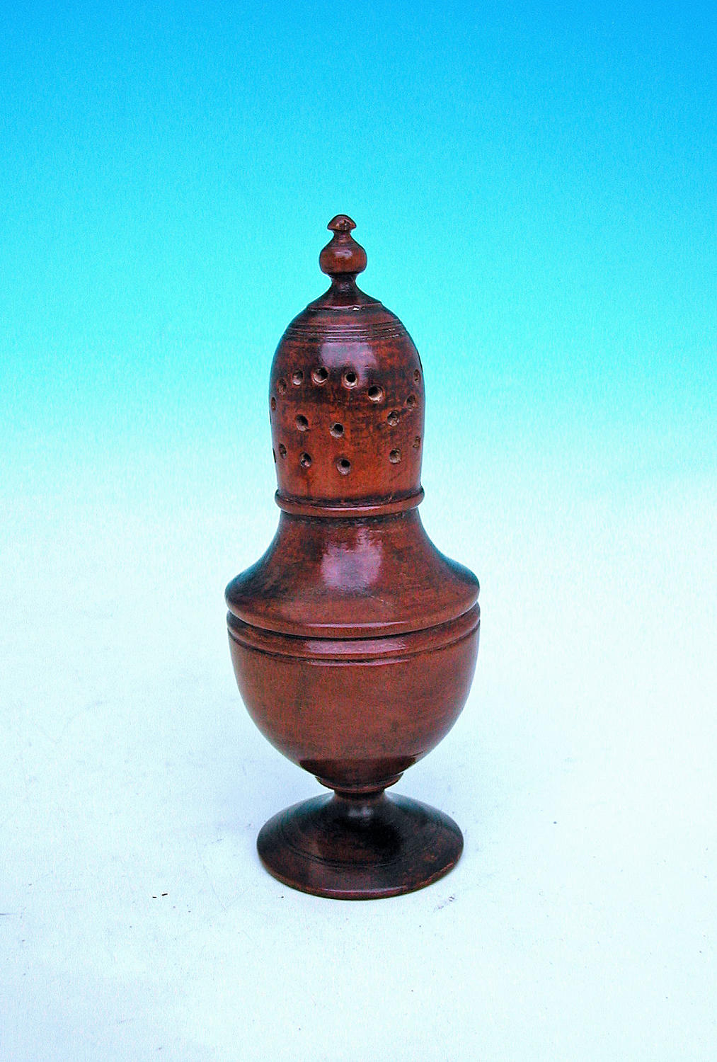 A Late 18thc Sycamore Turned Muffineer. English. C1770-90