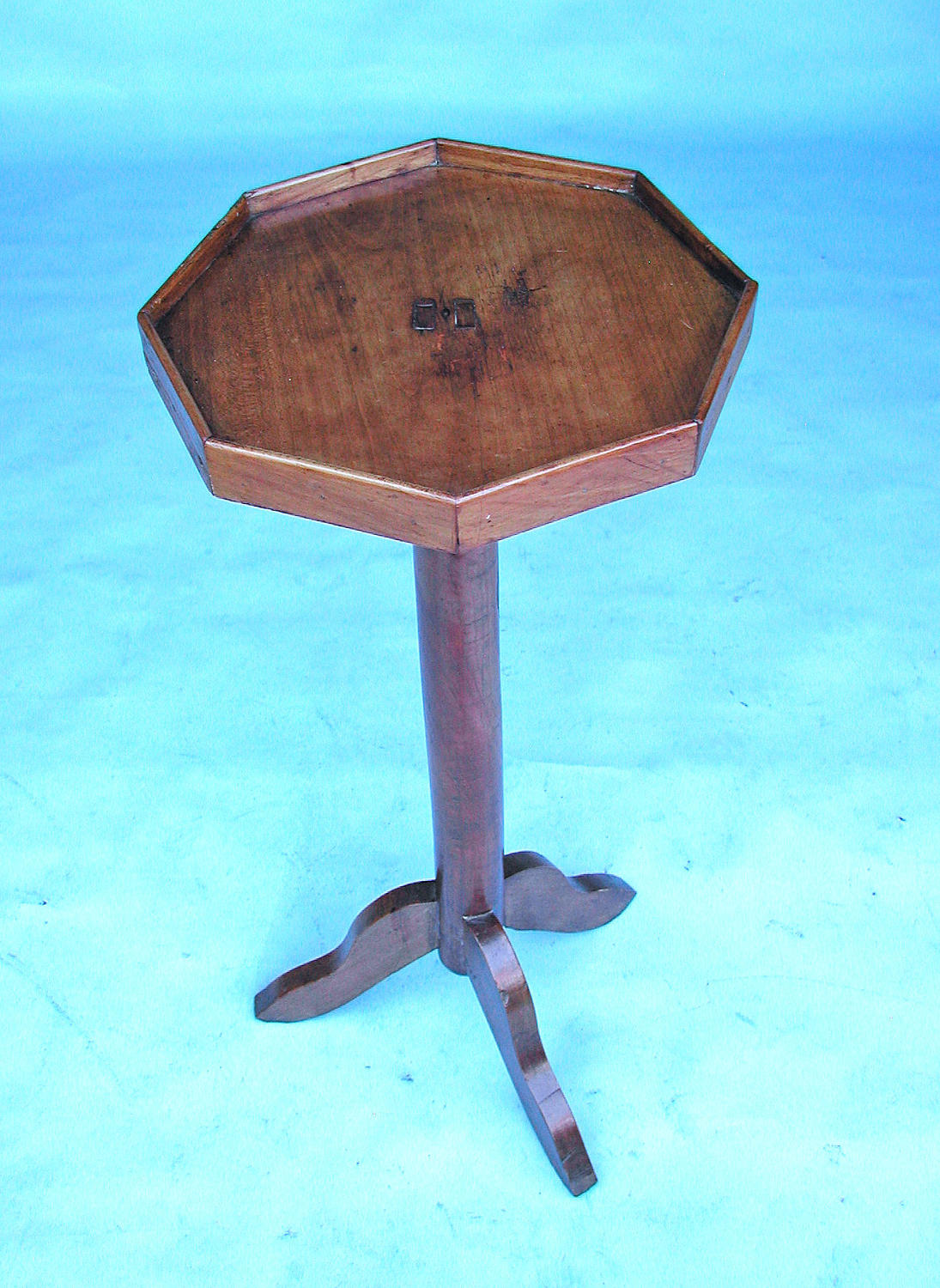 Early Furniture 19thc Fruitwood Candlestand.  French. C1800-20.