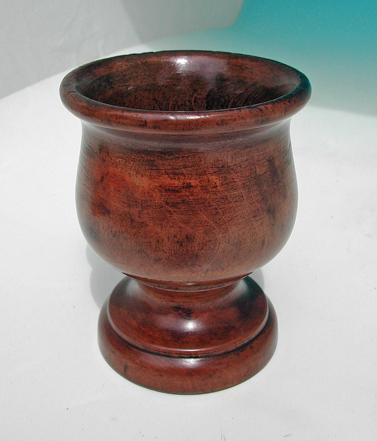 Early 19thc Treen Sycamore Turned Master Salt. English. C1800-20.