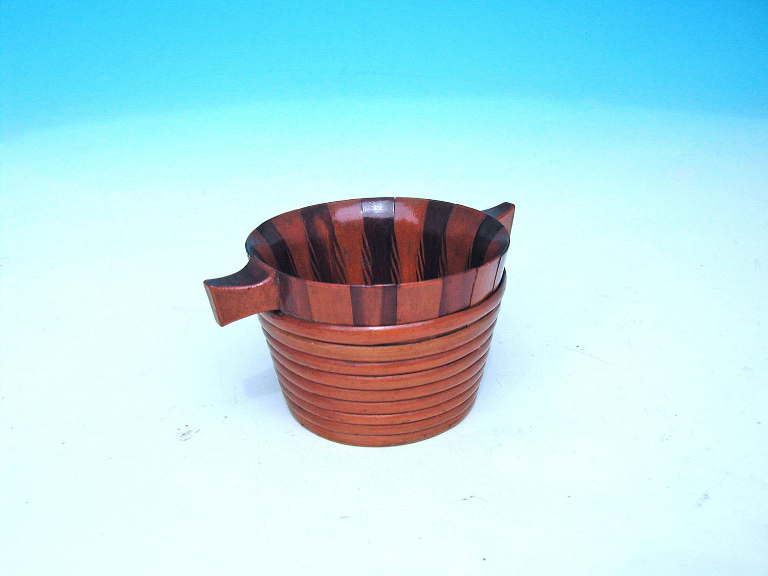 Antique Treen 19thc Small Bicker Drinking Vessel. Scottish C1840-60.