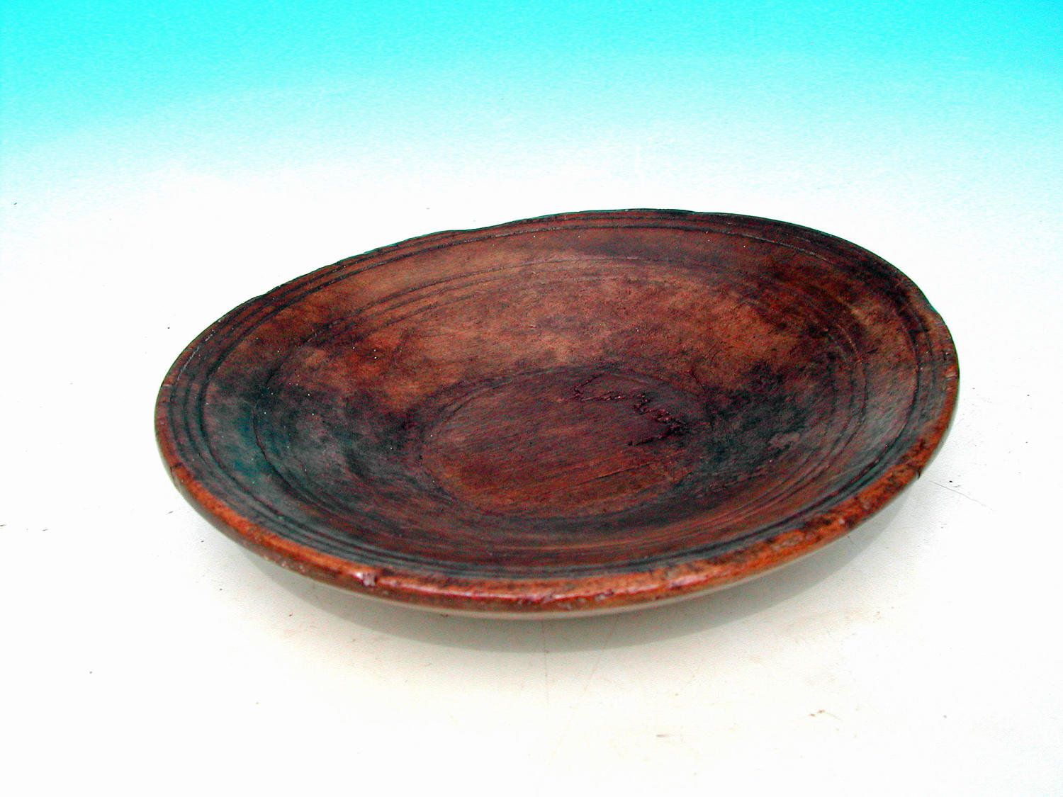 A Rare 17thc Treen Sycamore Triple Reeded Platter. English.C1680-C1700