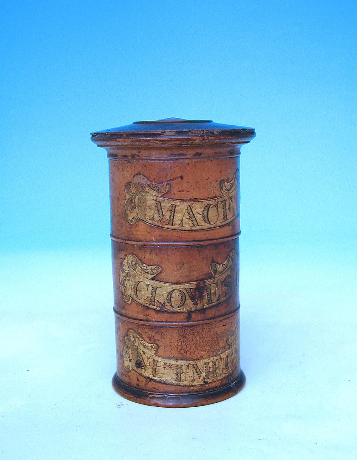 Antique 18thc/19thc Treen Spice Tower. English. C1780-C1800