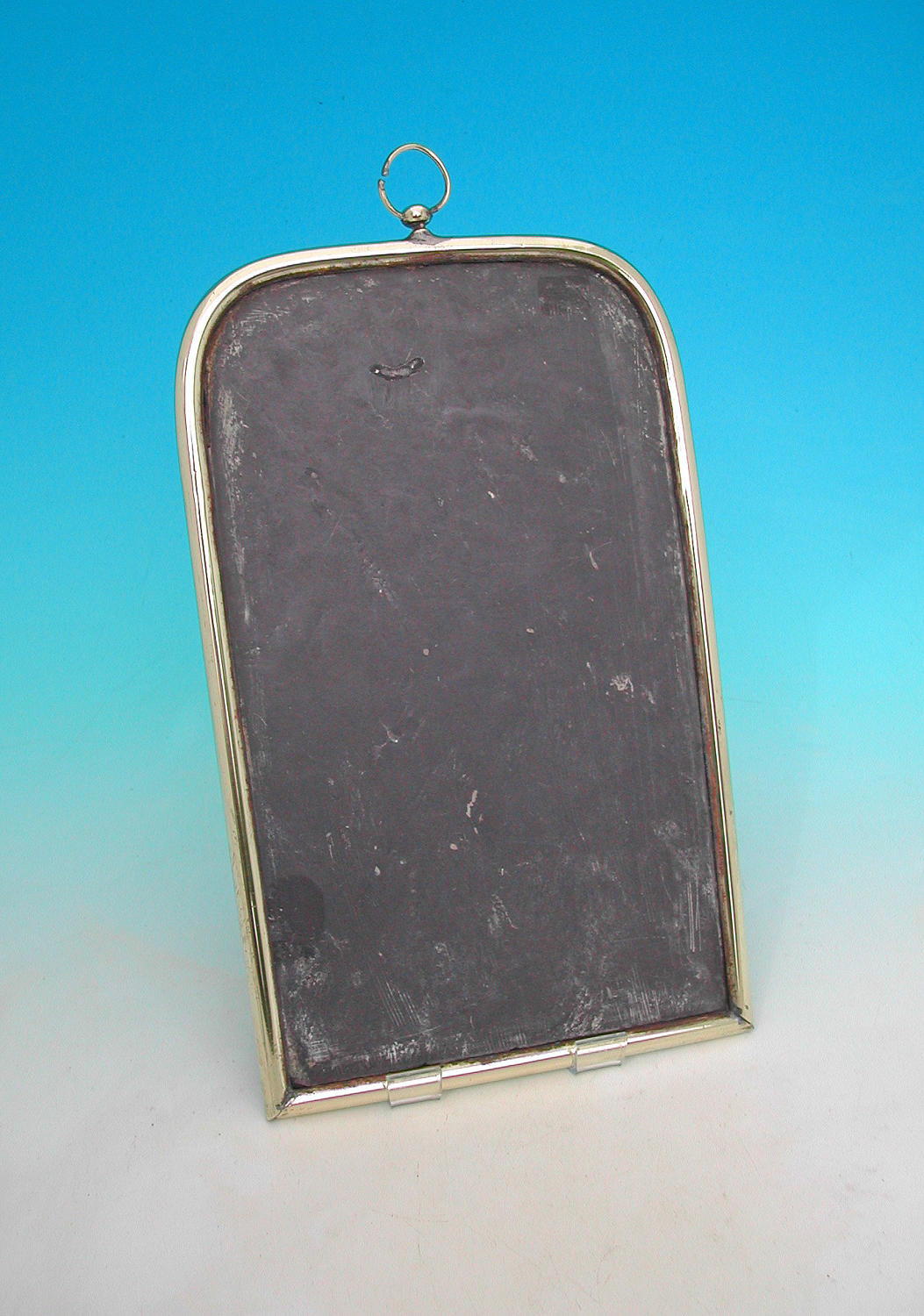 Antique 19thc  Metalware Brass Framed Writing Slate. English. C1880-90