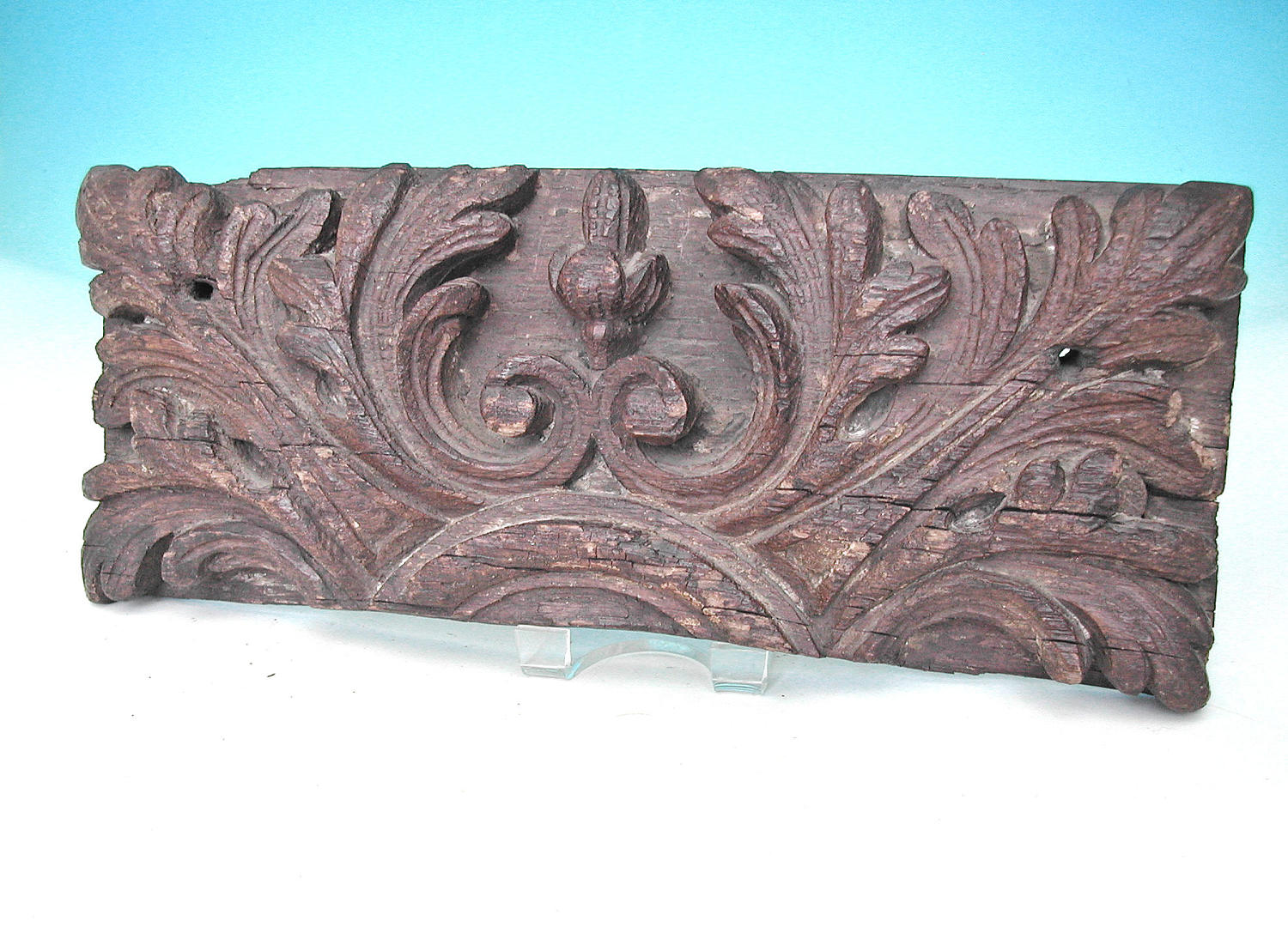 Antique 15thc Oak Deep Relief Carved Panel.  English. C1460-80