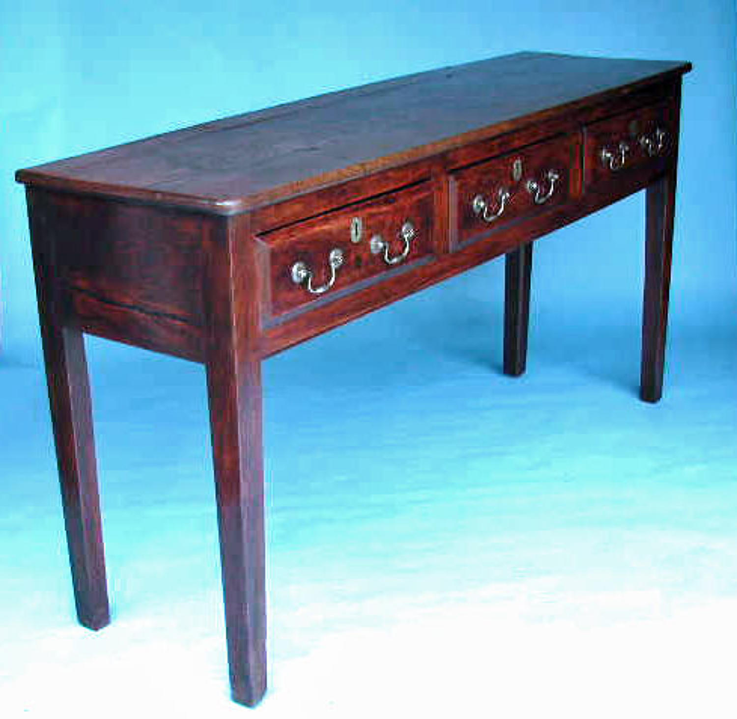 18thc Country Furniture Small Figured Ash Low Dresser. English. C1770