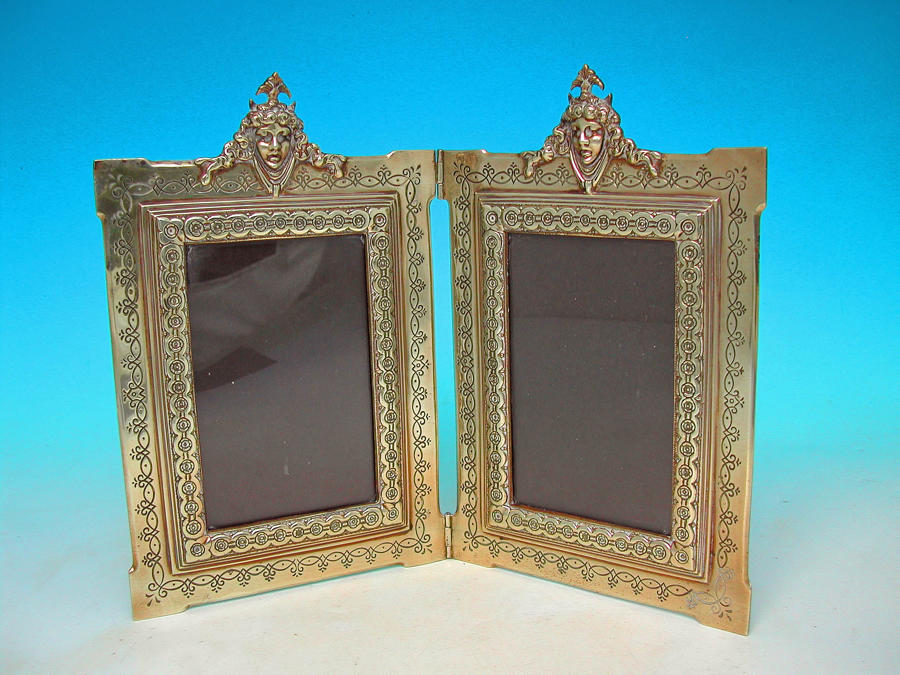 Antique Metalware 18thc Pair Of Picture Frames. English. C1770-90.
