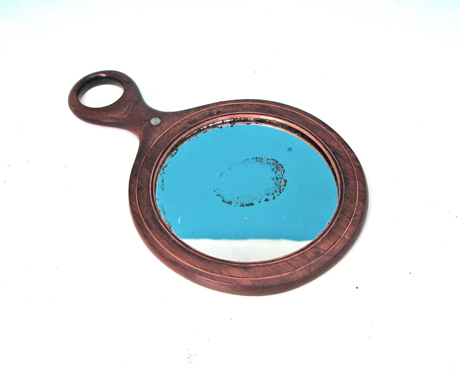 Early Treen 19thc Regency Ladies Hand Mirror.  English C1800-20.