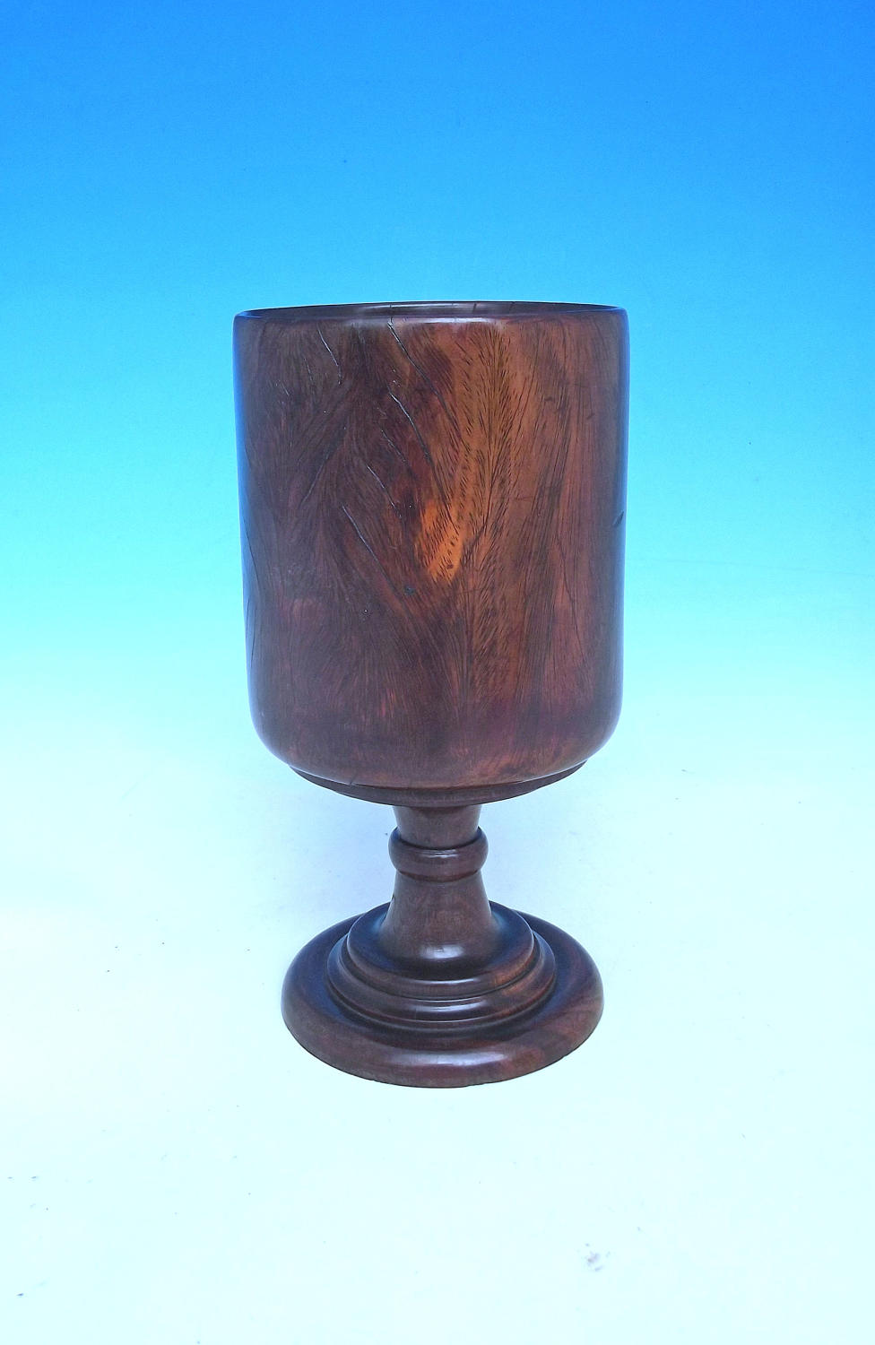 Antique Treen 18thc Lignum Vitae Drinking Goblet. English. C1770-90