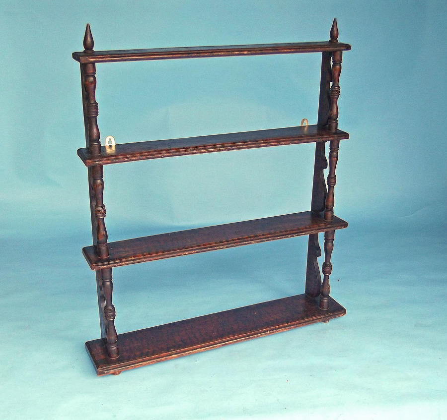 Antique Furniture 19thc Regency Original Painted Delft Rack.  English
