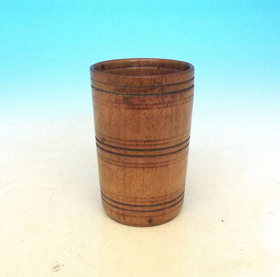 Antique 19thc Treen Fruitwood Beaker.  English. C1800-20