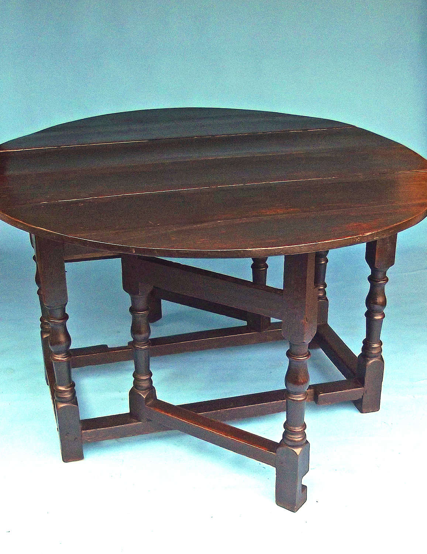Antique 17thc Cromwellian Oak Joyned Gateleg Table. English. C1650-60