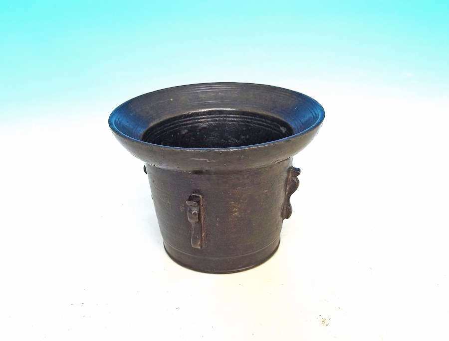 Antique Metalware Small 17thc Bronze Mortar.  Continental.  C1640-60.