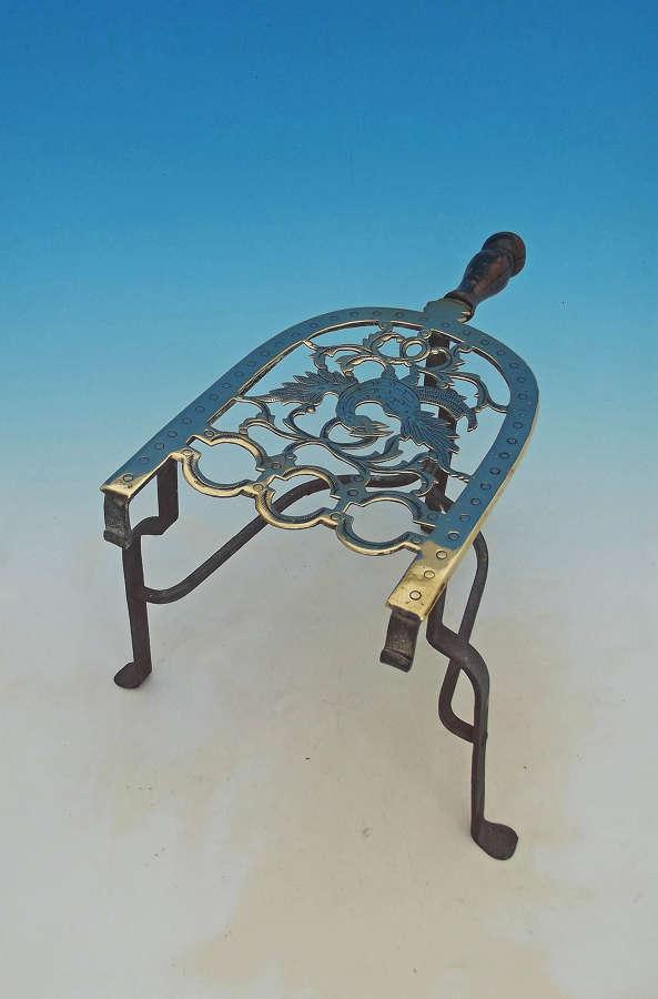 Antique Metalware 18thc Brass & Iron Footman. C1770-90.