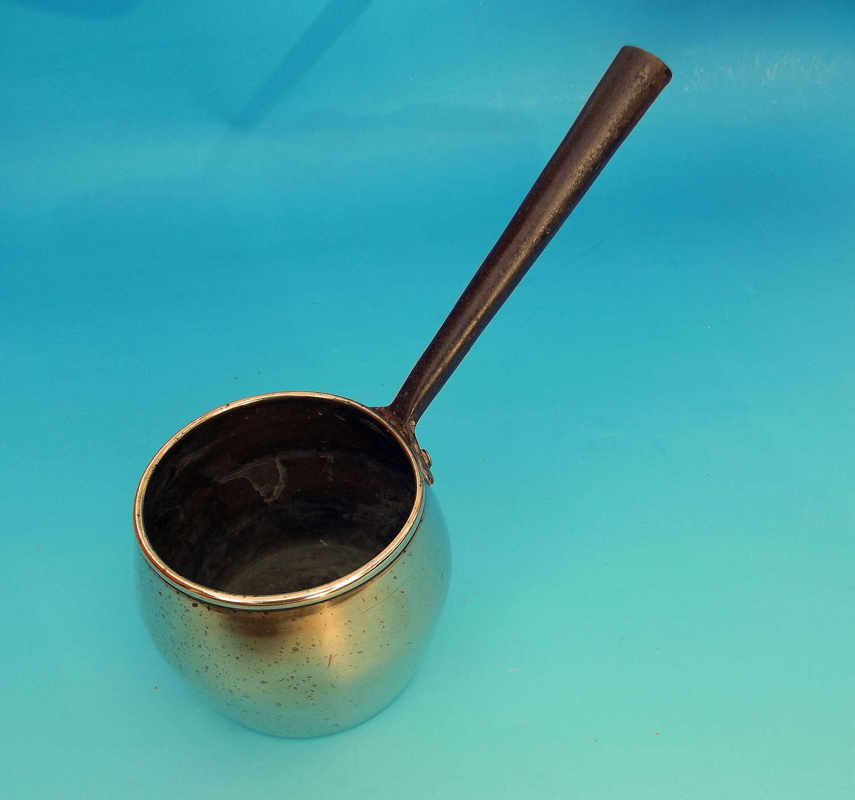 Late 18thc Brass & Iron Saucepan. English. C1780-90