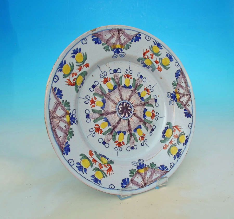 Antique 18thc Polychrome Delftware
