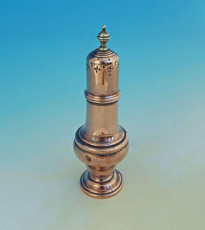 Antique Metalware 18thc Copper Sugar Caster.  English. C1750-60