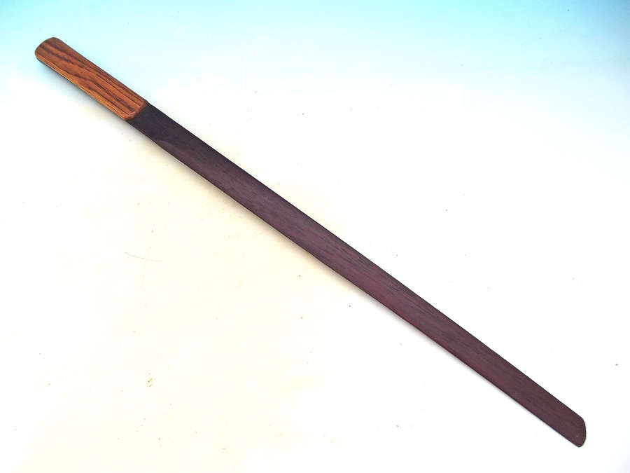 Antique Treen 19thc Mahogany, Ash Page Turner Stamped Hughes - Derby.