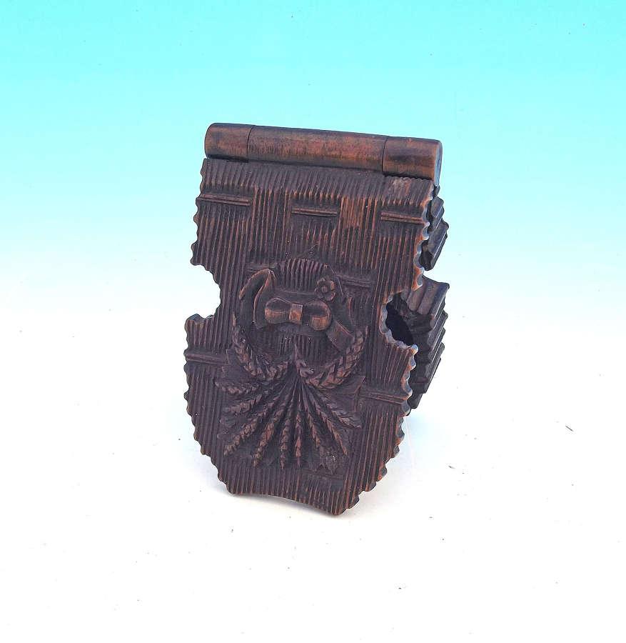 Antique 19thc Treen Black Forest Watch Fob Holder. German C1860-80.