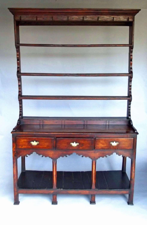 Antique 18thc Furniture Oak & Ash Potboard Dresser . South Wales C1780