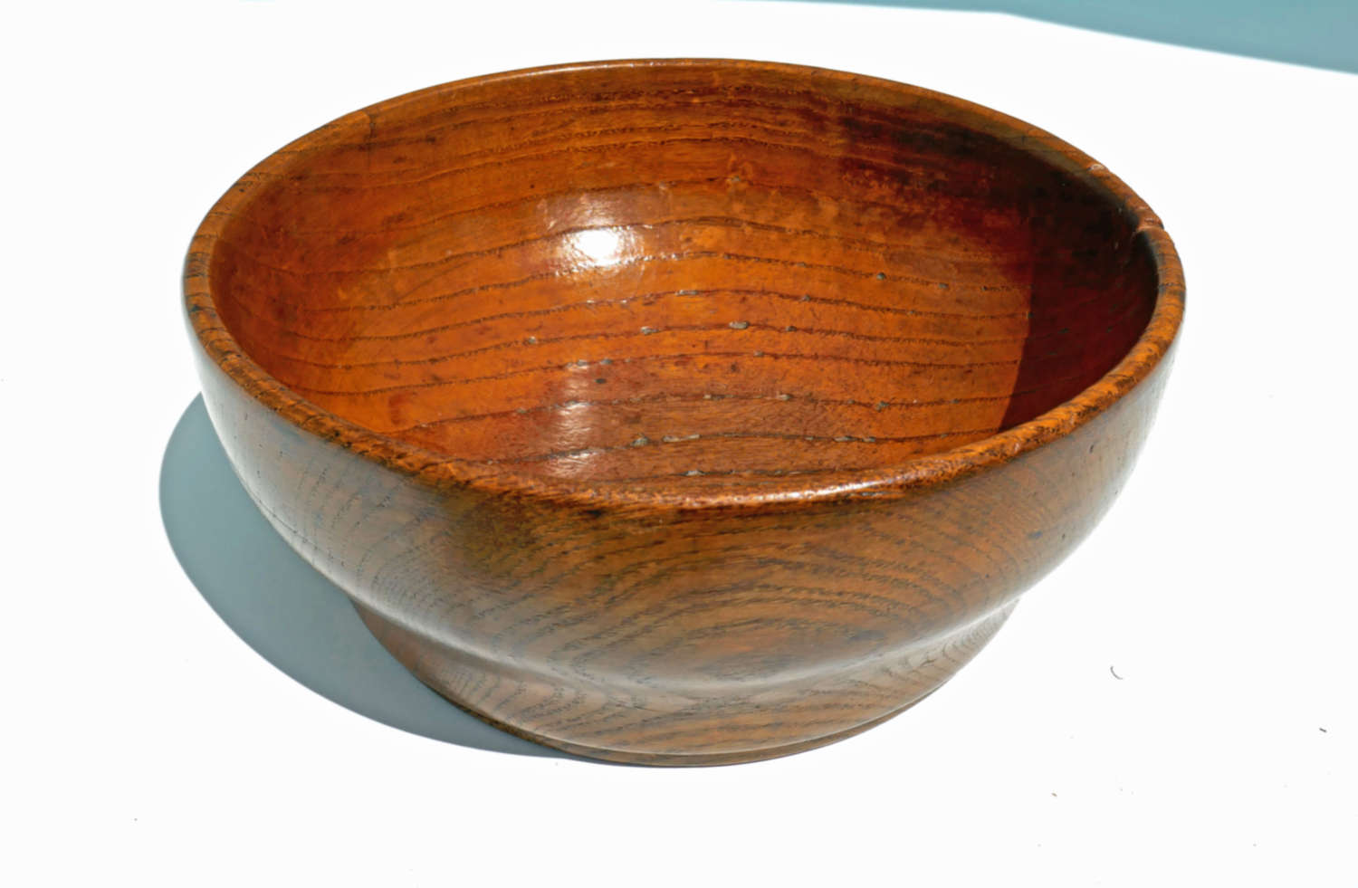 Antique 19thc Treen Ash Cawl Bowl. Welsh C1840-60