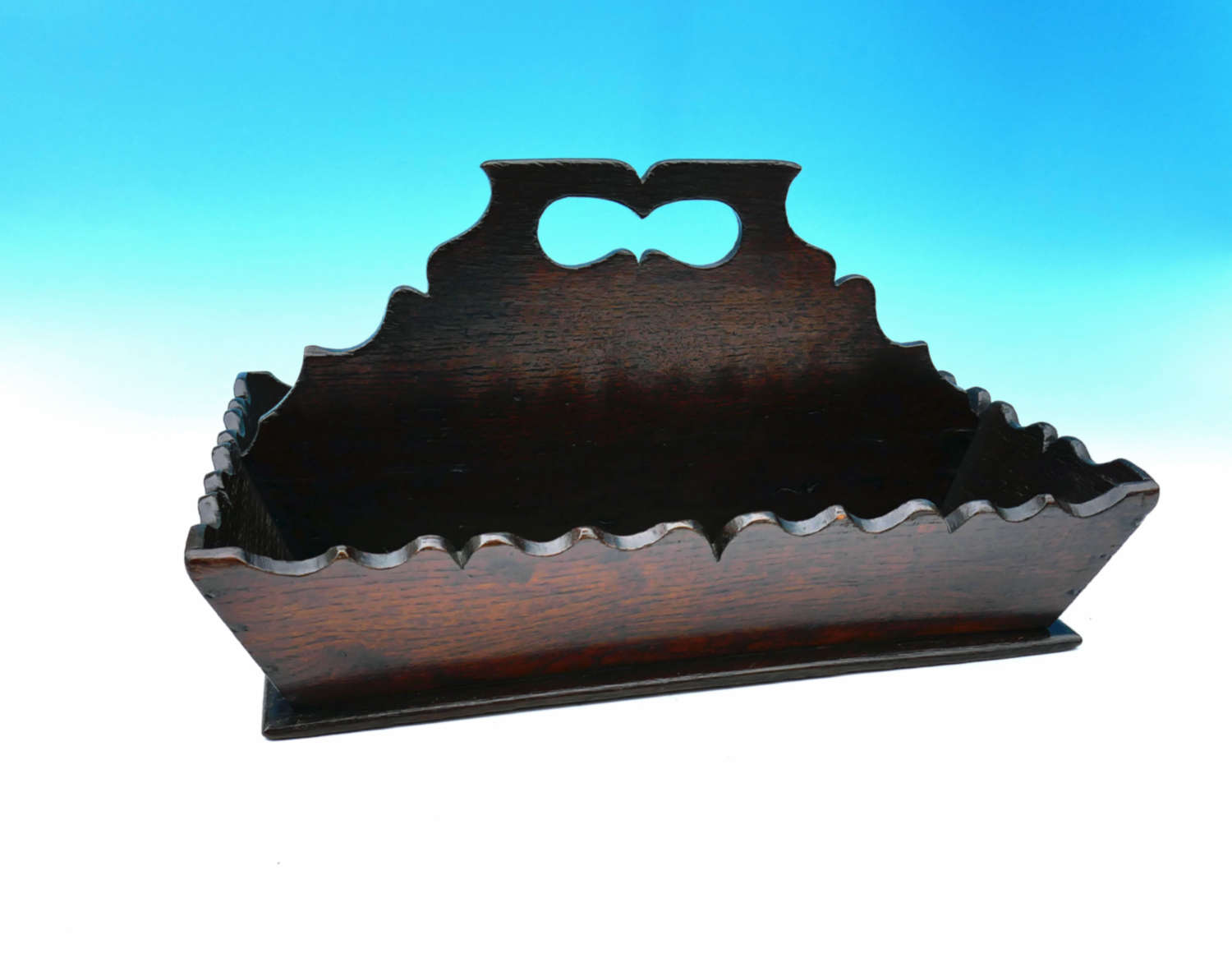 18thc Welsh Oak Shaped Cutlery Tray.  Pembrokeshire C1780-90