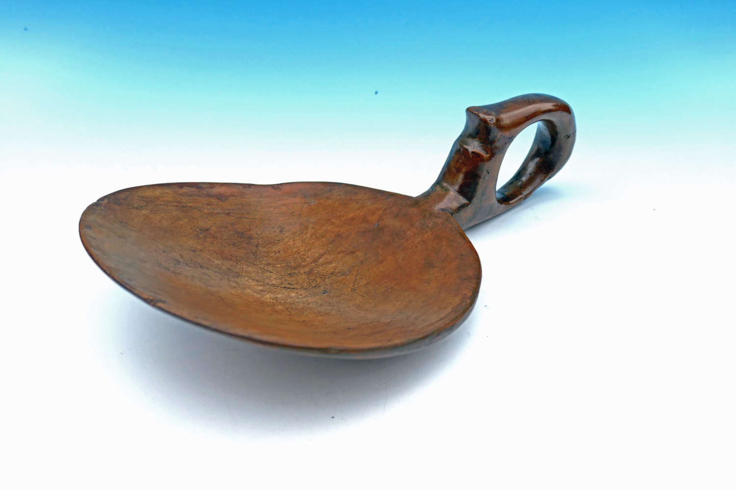 Antique 19thc Treen Sycamore Dairy Skimmer. Welsh C1820-40.