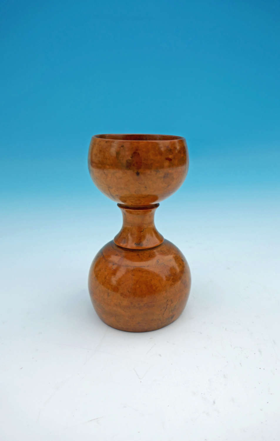 A 19thc Treen Sycamore Double Ended Spice Measure.  English C1840-60.