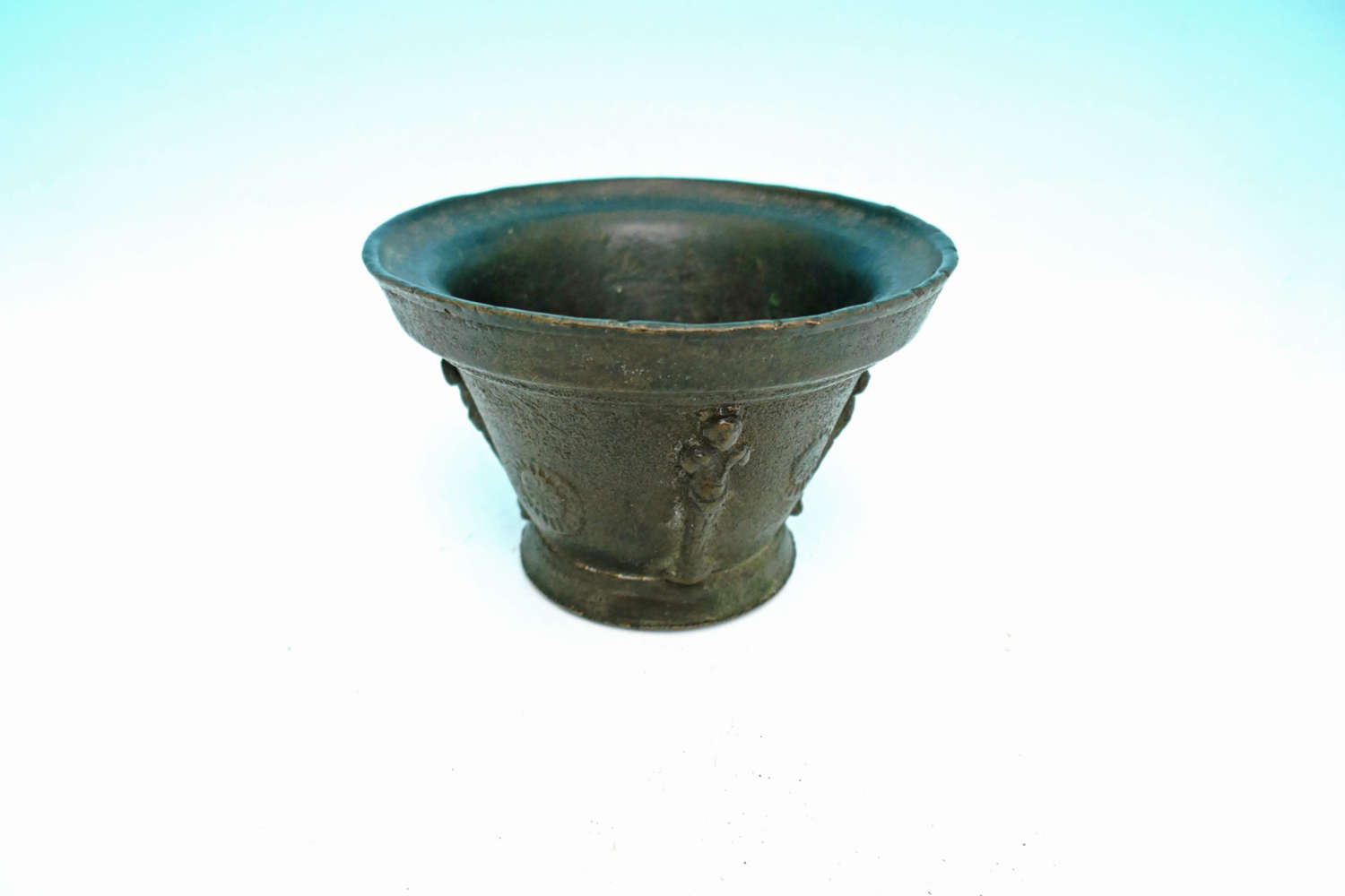 Antique Metalware 17thc Bronze Small Mortar.  French C 1640-60.