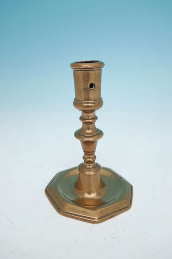 Early 18thc Metalware Bell Metal Single Candlestick . French C1700-10