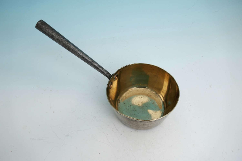 Early 19thc Metalware Brass & Iron Saucepan . English C1800-20