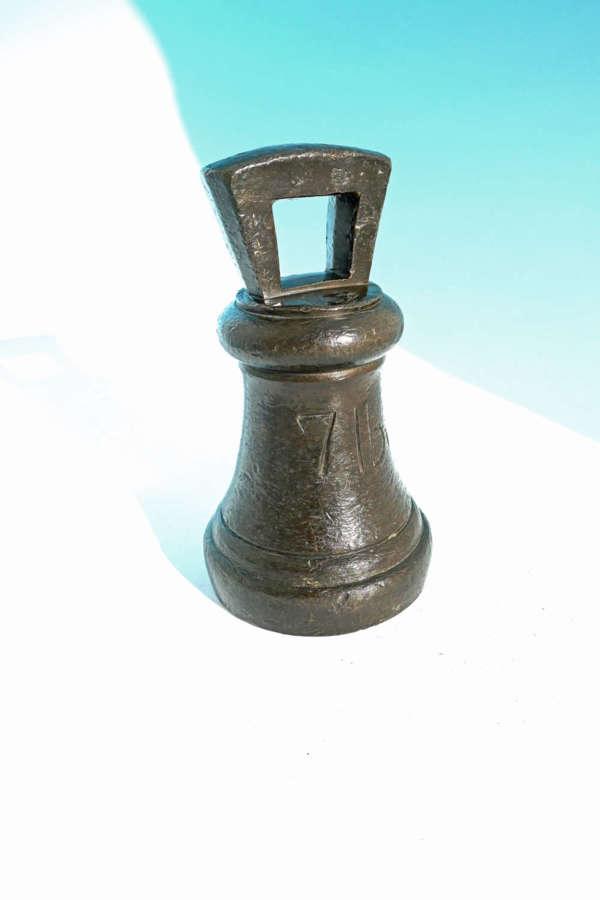 Early Metalware 19thc Georgian Bronze 7lb Weight.  English. C1826