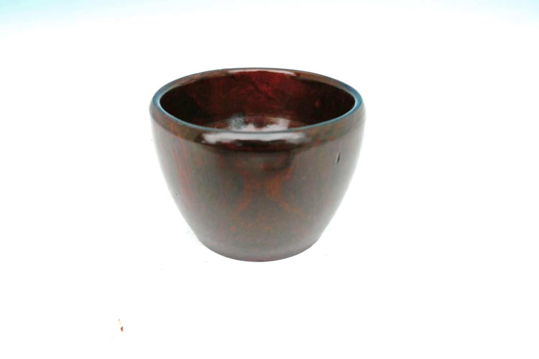 Antique Treen 19thc Turned Lignum Vitae Wool Bowl.  English C1800-20.