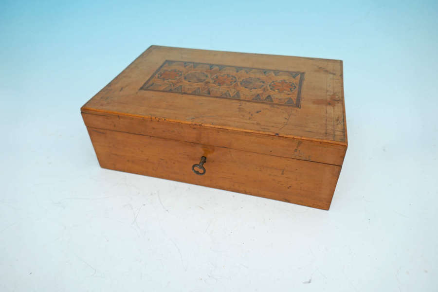Antique Early 19thc Fruitwood Parquetry