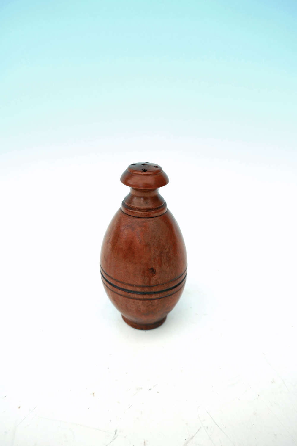 Antique Treen 19thc Fruitwood Turned Spice Pot.    French  C1840-60