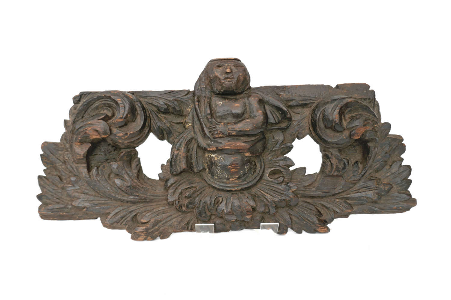 Antique Carving 15thc Pine Misericord Front With