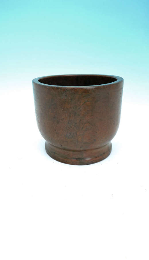 Early 19thc Large Treen Sycamore Kitchen Mortar.  English C1800- 20.