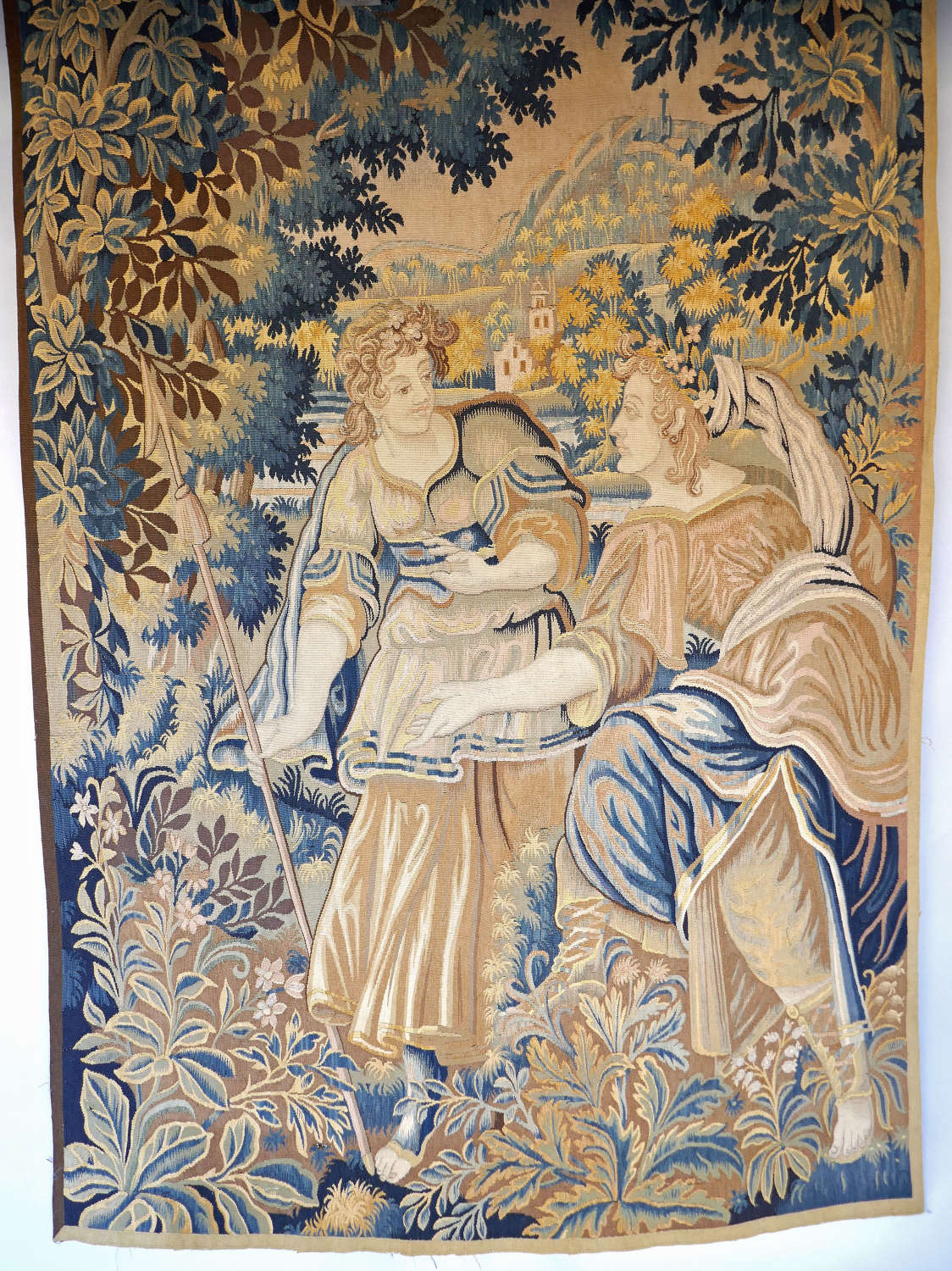 Antique Textiles Late 18thc French Wall Hanging Tapestry. C1780-C1800