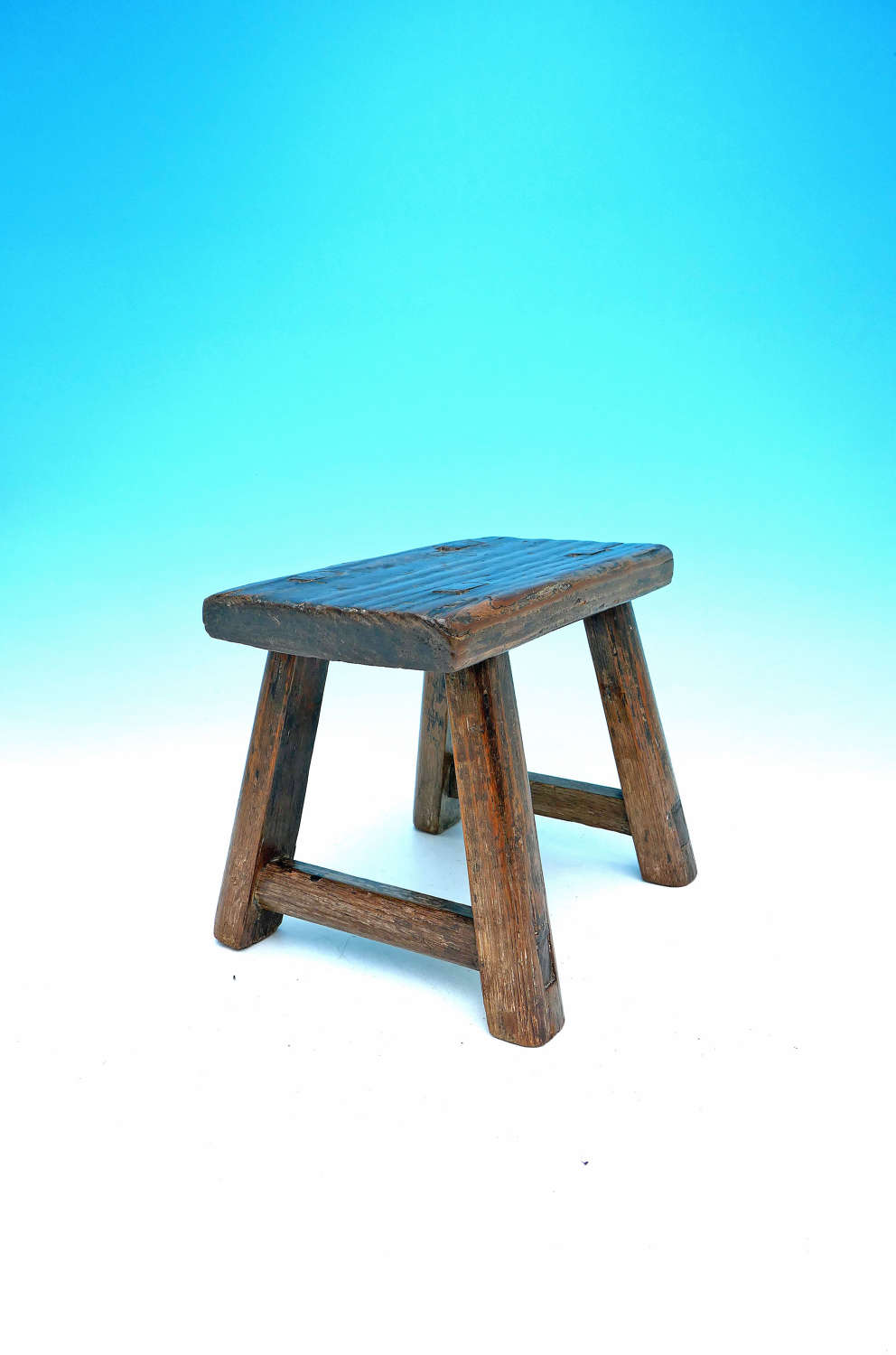 19thc Oak & Country Furniture Pine West Country Stool / Candlestand.